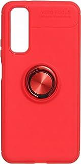 جراب خلفى مطاط اوتو فوكس مع حلقة معدن فاشون لهواوي اونر20 - احمر
