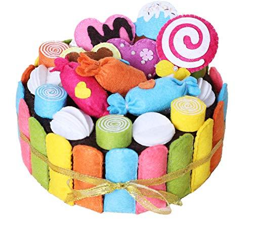 Creativo juego de manualidades para coser, bonita caja de almacenamiento de tela no tejida en estilo pastel colorido, ideal para el tiempo libre con 100 % diversión.
