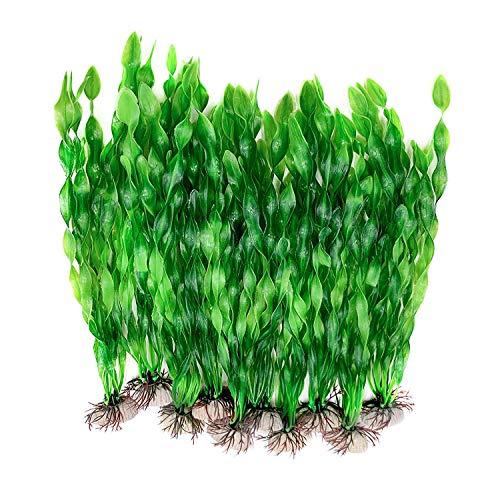 Plantes artificielles d'aquarium,10 PACK Plantes en Plastique décorations pour aquariu,Aquarium Plante Ornement