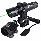 Green Dot Scope 520nm Tactical Variable Waterproof lluminated Reticle with Mounts for Sniper