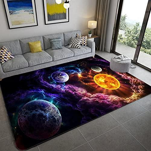 PHhomedecor Space Universe Planet 3D Floor Carpet Living Room Soft Bedroom Rug For Children Boys Toilet Mat Doormat 180X200cm