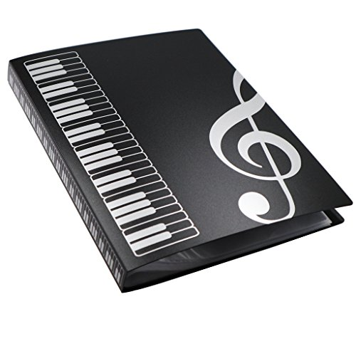 Musikordner/ Notenblatthalter von Moreyes - zur Aufbewahrung, A4-Format, mit 40 Hüllen clef