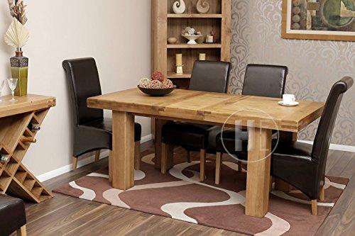 Mesa de comedor rústica extensible y 6sillas de roble  Muebles de comedor Oslo HFL-OSET006