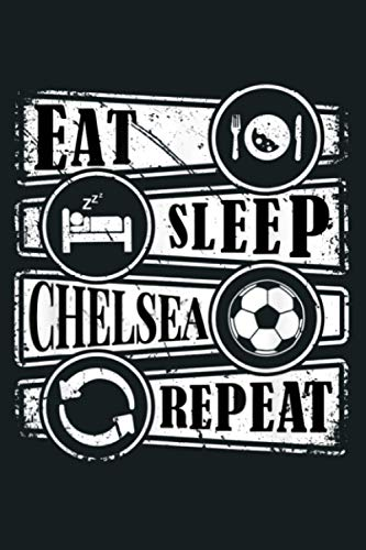 Retro Chelsea Jersey English Soccer Repeat Blues Gift: Notebook Planner - 6x9 inch Daily Planner Journal, To Do List Notebook, Daily Organizer, 114 Pages