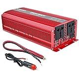 Inversor de alimentación Onda sinusoidal Pura - 1500W / 3000W USB 12V / 24V a 110V / 220V Converter-2AC Outlets inversora