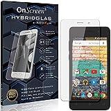 OnScreen Schutzfolie Panzerglas kompatibel mit Archos 45b Neon Panzer-Glas-Folie = biegsames HYBRIDGLAS, Bildschirmschutzfolie, splitterfrei, MATT, Anti-Reflex - entspiegelnd