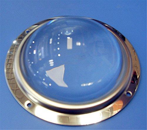 Kit d'objectif 100 mm + bague d'étanchéité étanche + support fixe pour perles LED 20 W - 200 W