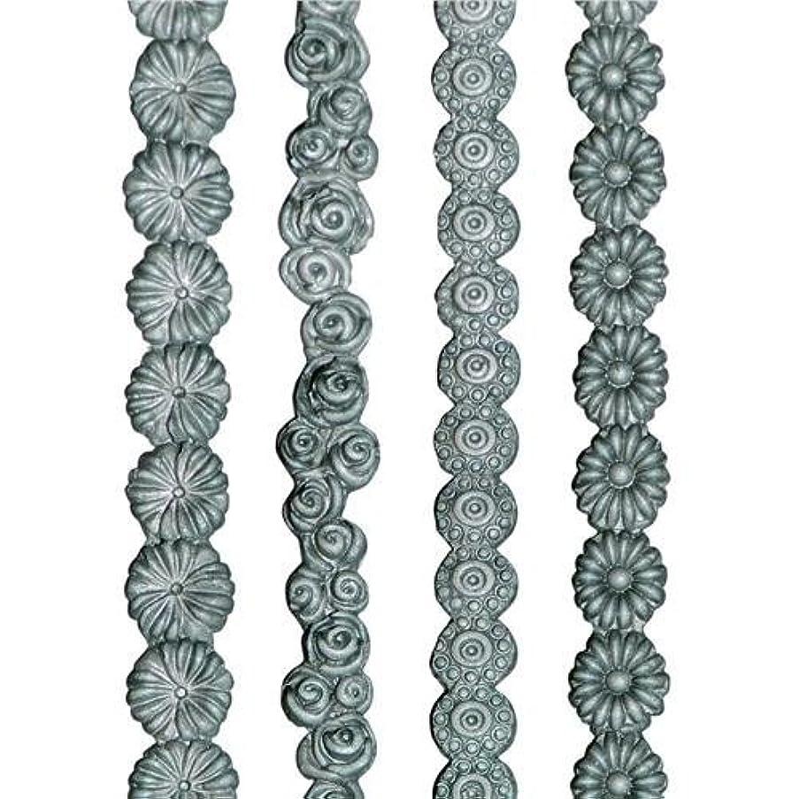 Lisa Pavelka Art Supplies (Style #091-27331) Set of 4 Flower Border Molds - Daisy Chain