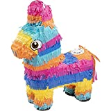Donkey Pinata for Kids Birthday Party, Cinco De Mayo Decorations (12.5 x 15 x 4.7 In)