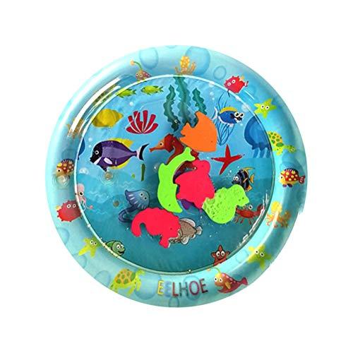 Alfombrilla de agua para bebés,alfombra de juego de agua inflable para bebés,cojín acolchado inflable,juguetes de aprendizaje temprano de seguridad para bebés,alfombra de juego llena de agua de PVC