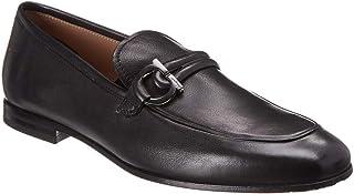 Salvatore Ferragamo Gancini Leather Loafer, 7 Eee, Black