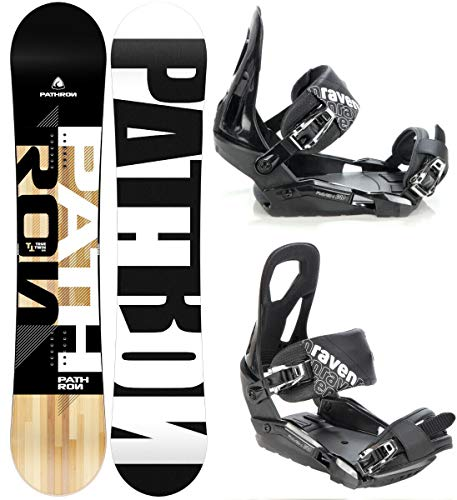 Pathron Snowboard Set: Snowboard TT + Bindung Raven s240 (159cm Wide + s240 Black M/L)