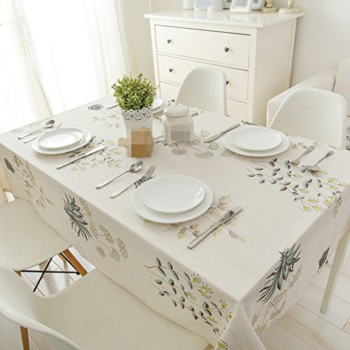 ZWL Nappe fleur table de bureau table ronde salon nappe à café nappe de tissu en tissu ordinaire , Ajoutez de la vitalité à la cuisine ( Couleur : #1 , taille : 130*240CM )