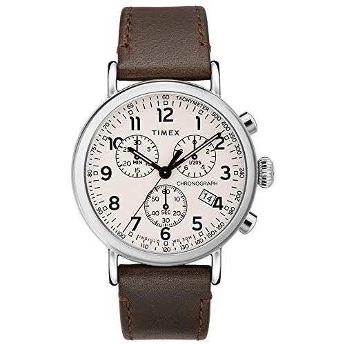 Timex Standard Chronograph Beige Dial Canvas Strap Men's Watch TW2T21000