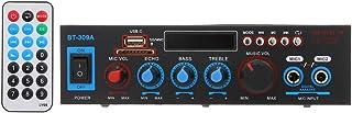 Gecheer 12V / 220V Mini Audio Power Amplifier BT Digital Audio Receiver AMP USB SD Slot MP3 Player FM Radio LCD Display Du...