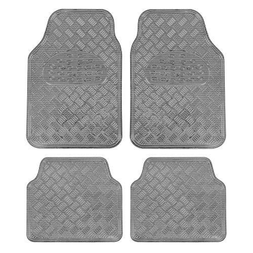 BDK MT-642-CB Carbon Design Floor Mat for Car Auto (Sedan Truck SUV Minivan) -Universal Fit-4 Piece Full Set