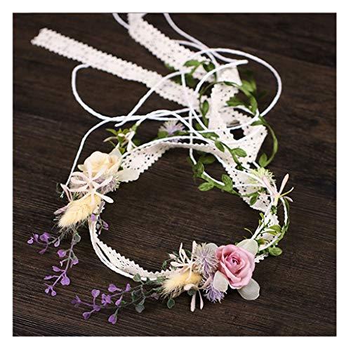 Accessori per Capelli Ghirlanda di Fiori Wedding Wedding Nappa Fascia per Capelli Vacanza al Mare Copricapo Sposa Accessori per Capelli da tiro Ghirlanda &Corona di fiori (Dimensioni : 45cm)