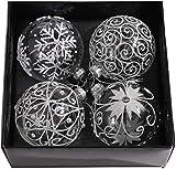 DAGUAI Conjunto de 4 Bolas de árbol de Navidad de Las chucherías Fillable Colgantes de Cristal del Partido de Las chucherías del árbol de Navidad decoración de Vacaciones Festival