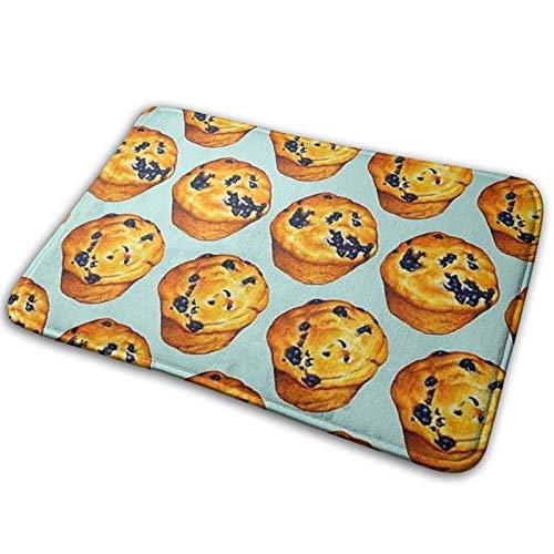 Blueberry Cupcakes - Alfombra antideslizante para la entrada, alfombrilla de cocina, cojín con ventosa, decoración para el hogar, 40 x 60 cm