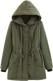 Dainzuy Womens Hooded Warm Winter Coats Thicken Faux Fur Lined Outwear Jacket Overcoat Hooded Pocket Parka