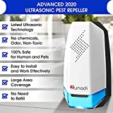 RUNADI Ultrasonic Pest Repellent - (Pack of 2) - Indoor Plug in Pest Control for Mosquitoes, Mice, Rats, Cockroaches, Spiders, Crickets and Rodents