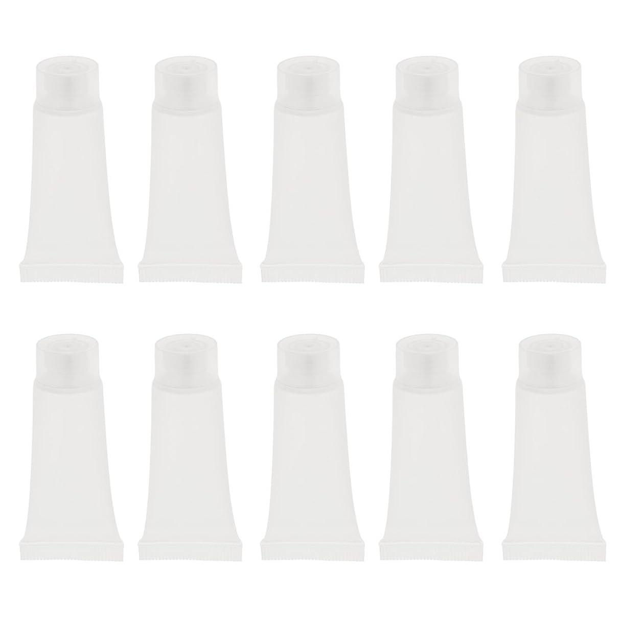 バンクダンス植物学DYNWAVE クリームチューブ 空チューブ コスメ用詰替え容器 日焼け止め 持ち運び 簡単 約20個入り