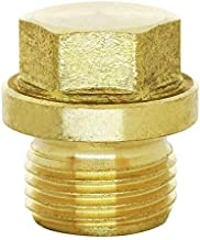 (1pc) BelMetric M18X1.5 Flanged Brass Hex Head Corrosion Resistant Plug DIN 910 for Machinery and Fittings, Sealing Washer Included DP18X1.5HBRS