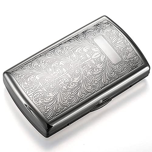 LLZX Soporte de Caja de Cigarrillos de Metal Plateado Caja de Cigarrillos Extra Delgada Ligera de Acero Inoxidable 12 Uds.