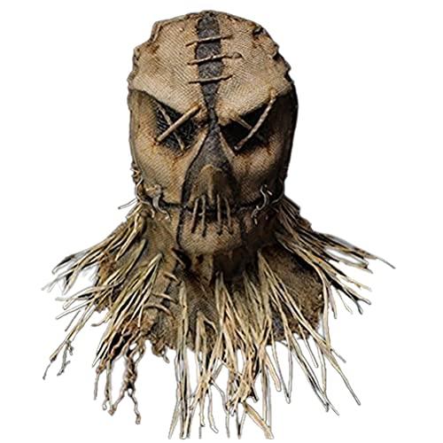 Halloween Mascaras,Funda de Cabeza de Espantapájaros de con Guantes Sombrero Máscara de Terror Máscara de Cabeza Halloween Carnaval Traje Máscara Navidad Fiesta Decoraciones Adulto Accesorio Del Traje