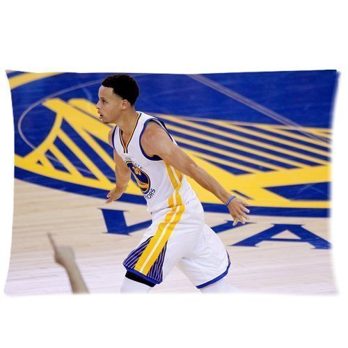 Schattig Ontwerp Standaard Grootte 20x30 Twee Zijkanten Print 2015 MVP Stephen Curry NO.30 Koele Afbeeldingen Voor Kind Kussenslopen Kussen