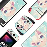 BelugaDesign Jigglypuff Switch Skin | Cute Pastel Sticker Wrap Vinyl Decal | Anime Kawaii Japanese Cartoon Game l Compatible with Nintendo Switch (Switch Standard, Green Pink)