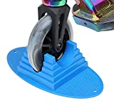 VOKUL Scooter Stand Parking | Universal Pro Kick Scooter Holder Stand fit Most Scooters for 95mm -125mm Scooter Wheels - Multiple Scooters, Stable Base,Organize Scooters, Works Perfect (Blue)