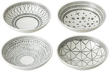 ED Ellen Degeneres Complete Free Shipping Bombing new work Charcoal 5.5 Inch Mixed Bowls Set 4 of