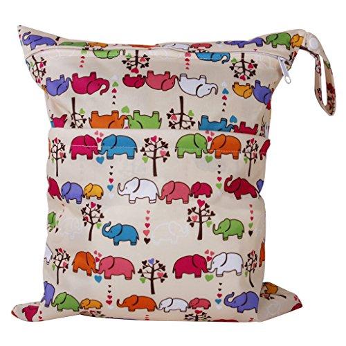 Baby Tuch Wasserdichte Wickeltasche Wiederverwendbar Waschbar Wickeltasche mit Reißverschluss Zwei