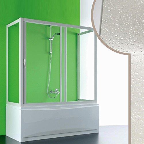 Cabine douche 3 côtés Pare-Baignoire 90x180x90 CM en acrylique mod. Plutone avec ouverture later