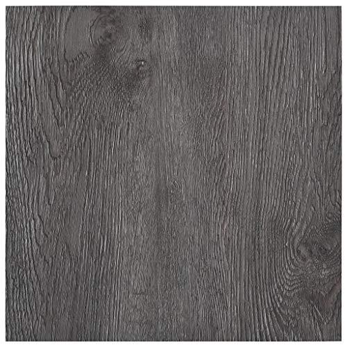 Festnight PVC Bodenbelag Laminat Kronoflooring Dielen Selbstklebend 5,11 m² Grauer Marmor/Weiß/Hellgrau/Braun