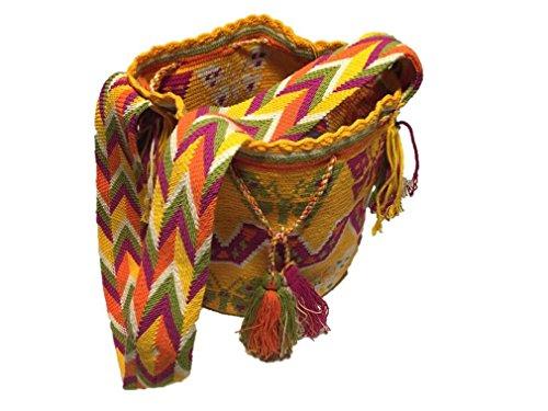 4. Mochila Wayuu Bolso Cruzado de Algodón - Belleza y detalle