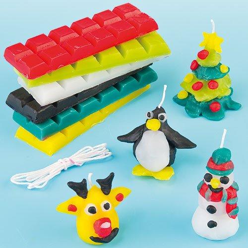 Baker Ross Candele di Natale Fai da Te per Bambini (Confezione)