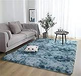 Brandname Alfombras Ultra Suaves Modernas para Interiores Alfombras de Sala de Estar mullidas Adecuado para niños Dormitorio Decoración para el hogar Alfombras de guardería (Azul, 80 x 120 cm)