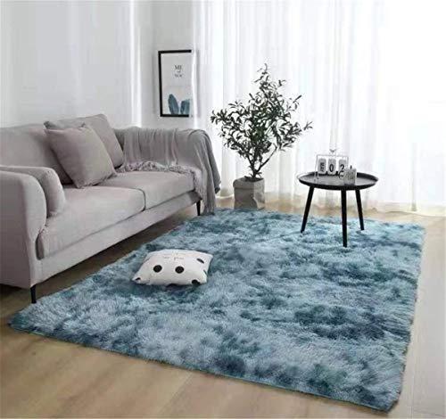 Brandname Alfombras Ultra Suaves Modernas para Interiores Alfombras de Sala de Estar mullidas Adecuado para niños Dormitorio Decoración para el hogar Alfombras de guardería (Azul, 60 x 160 cm)