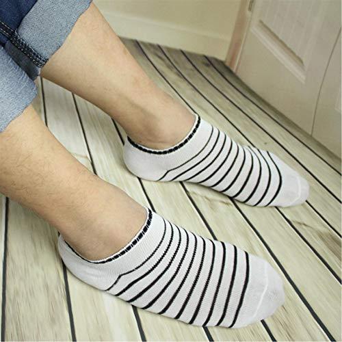 HBWHY Calcetines para hombre, calcetines de correr, acolchados, antiampollas, para deportes, no huele, calcetines tobilleros, corte bajo, para caminar, color blanco (un par)