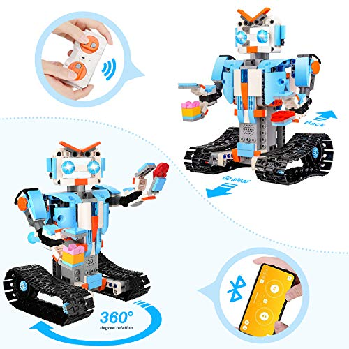 OASO STEM Projects Robot Building Kit for Kids, Remote & APP Control Engineering Science Learning Educational DIY Building Toys Gift Sets for Boys and Girls 8 10 12(351 Pieces)