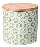 Bloomingville Behälter mit Deckel Emma, grün, Keramik Bambus Silikon