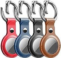 Schlüsselanhänger für Airtags Schlüsselanhänger mit Air Tags Apple Airtag Hülle Leder Air Tag Anhänger Airtag Case 4er Pack