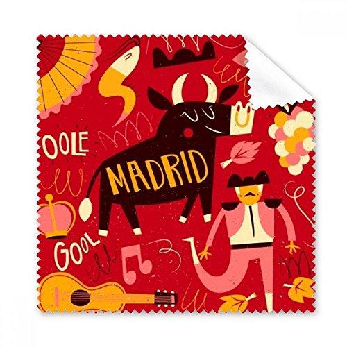 Madrid Spanische Stierkampf Musik Fiesta Gläser Tuch Reinigungstuch Geschenk Handy-Display von 5x