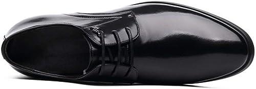Herren Lederschuhe, Business-Kleid Schuhe, Frühling Herbst Spitzschuh, Komfort Formale Schuhe, Hochzeit Büro-Freizeitschuhe (Farbe   Schwarz Größe   39) (Farbe   Schwarz Größe   42)