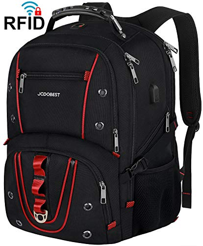 Travel Laptop Backpack,17.3 Inch Extra Large Capacity College School Bookbags with USB Charging Port,TSA Friendly Business RFID Anti Theft Pocket,Durable Heavy Duty Big Computer bag Backpack for Men