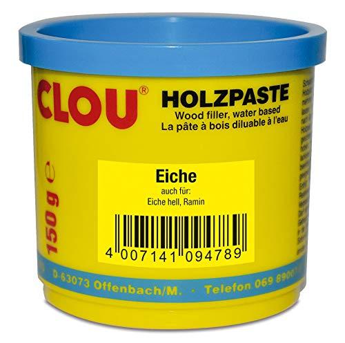 Clou Holzpaste zum Reparieren und Auskitten von Holzschäden eiche, 150 g: gebrauchsfertige Paste geeignet für den gesamten Innenbereich