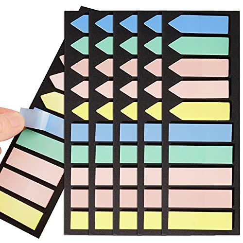 1000 Stücke Haftstreifen Haftmarker Index Tabs Textstreifen Klebezettel Klebemarkierungen Kleine Fahnen Haftnotizen Tabs Beschreibbare Etiketten für Seitenmarkierung