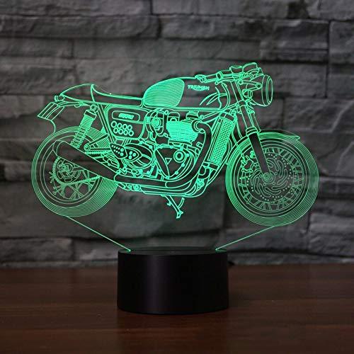 Cool Motocicleta Visual Slide Transparente acrílico Noche luz Lanpa Color táctil lámpara de Mesa Linda lámpara